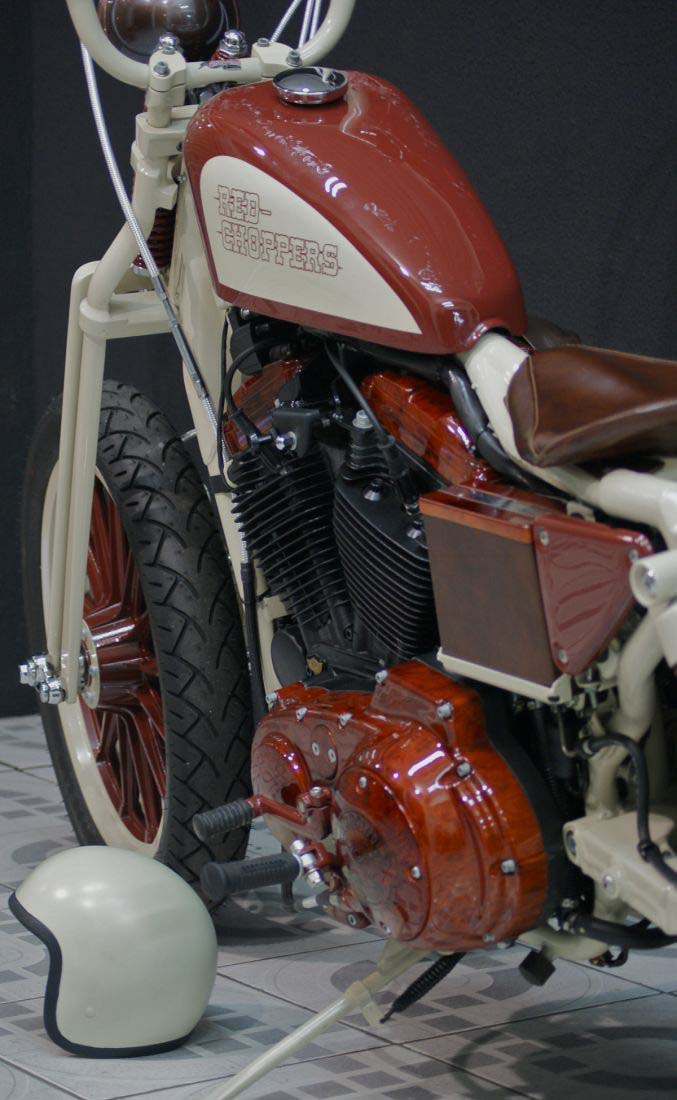 Red Choppers harley davidson (12)