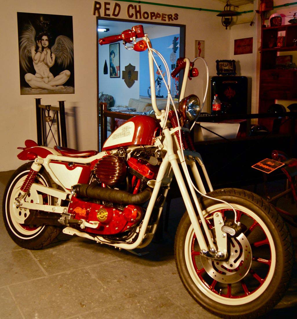 Red Choppers harley davidson (17)