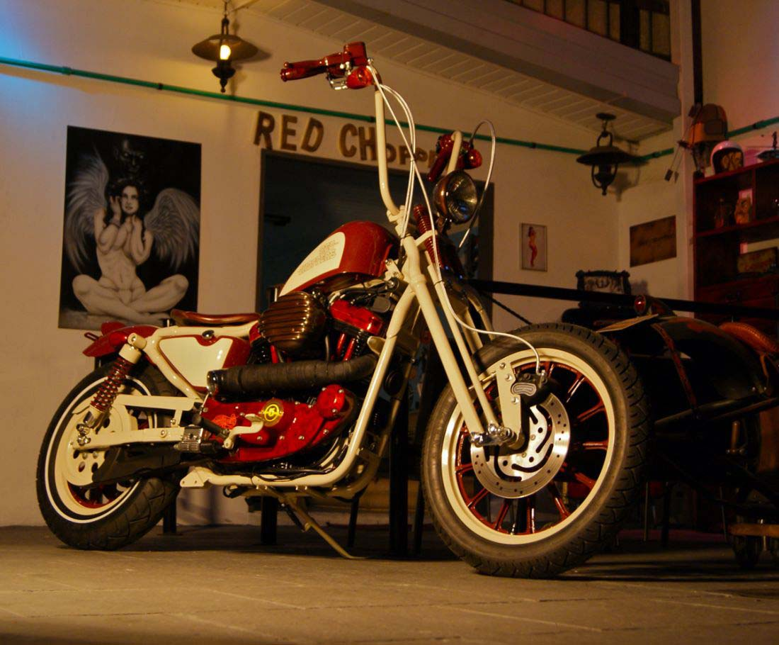 Red Choppers harley davidson (19)