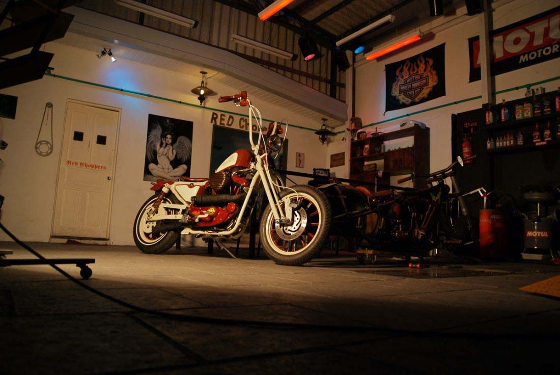 Red Choppers harley davidson (21)
